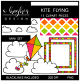 Kite Flying Mini Clipart Bundle {A Hughes Design}