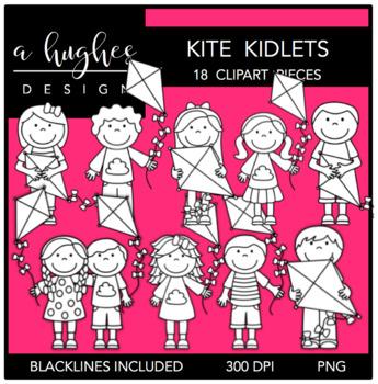 Kite Kidlets Clipart {A Hughes Design}
