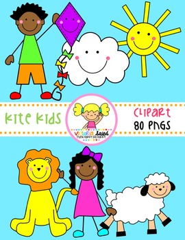 Kite Kids CLipart