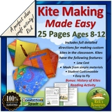 Kite Making Craft Activity with History of Kites Reading Comprehension Article
