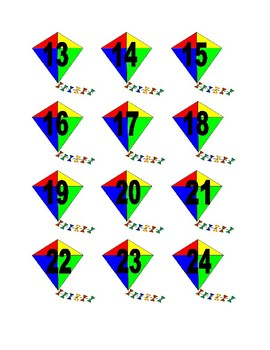 Kite Numbers for Calendar or Math Activity