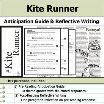 Kite Runner - Anticipation Guide & Reflection