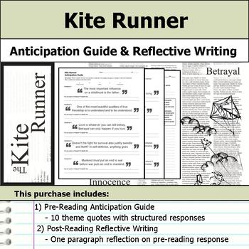 Kite Runner - Anticipation Guide & Reflection