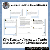 Kite Runner Character Cards Matching Game Identification Cues