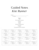 Kite Runner Guided Notes and Novel Study Questions