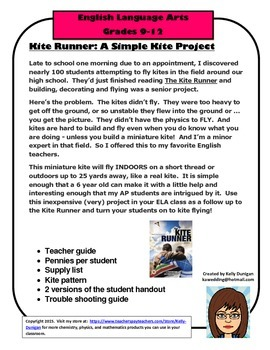 Kite Runner: Miniature Kite Project or Activity