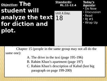 Kite Runner Novel and Literary Analysis Essay Unit