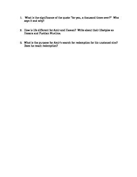 Kite Runner Quiz 24-25
