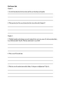 Kite Runner Quiz Ch 4-25