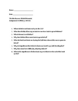 Kite Runner Quiz (p. 101-132)