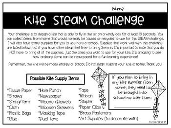 Kite STEAM/ STEM Challenge