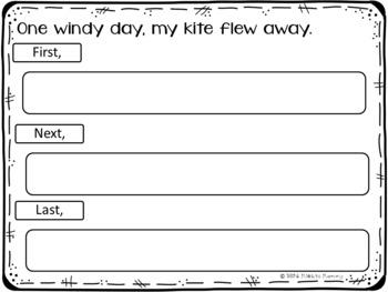 Kite Sequencing Writing {FREEBIE}