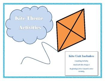 Kite Theme Unit including art, math and phonics activities