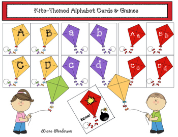 FREE Kite-Themed Alphabet Cards & Games