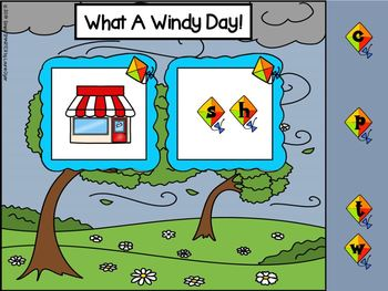 Kite Themed Beginning Digraph Activities For GOOGLE CLASSROOM