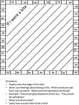 Kite Writing Templates with Prompts
