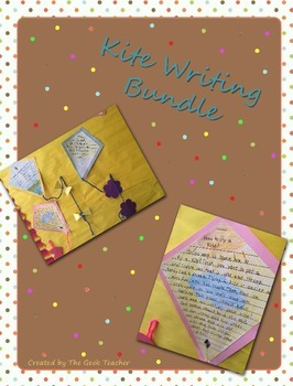 Kite Writing with Templates for Spring, Summer, or Fall