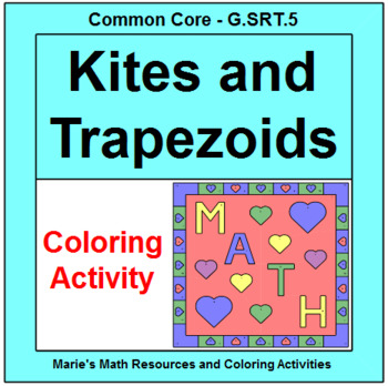 Kite and Trapezoid Angles - Coloring Design