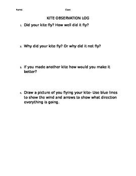 Kite observation log