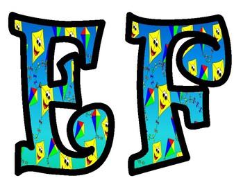 Kites Alphabet Bulletin Board Letters