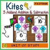 Kites Build 3 Addend Addition & Subtraction Number Sentences