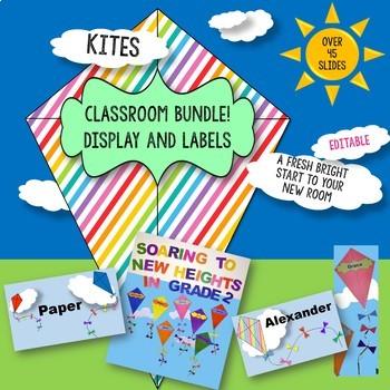 Kites Classroom Display Bundle - EDITABLE - (Back to School)