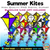 Kites Clipart | Summer Clip Art for Personal and Commercial Use
