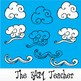 Kites, Clouds, & Kids Clip Art