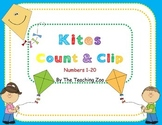 Kites Count & Clip 1- 20 Task Cards