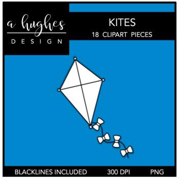 Kites Clipart {A Hughes Design}