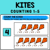 Kites Math Boom Cards - Counting 1-5