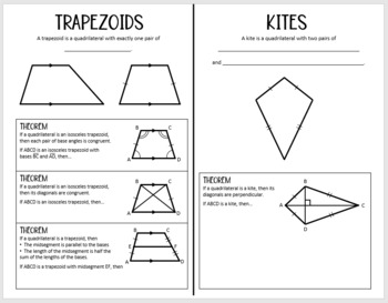 Kites & Trapezoids (Geometry Foldable)