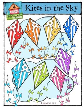 Kites in the Sky {P4 Clips Trioriginals Digital Clip Art}