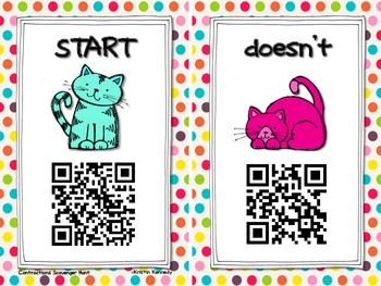 Kitten Contractions QR Code Scavenger Hunt