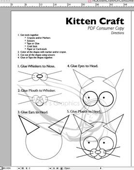 Kitten Craft Template PDF
