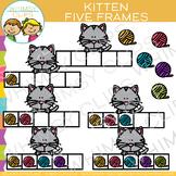 Kitten Five Frames Clip Art