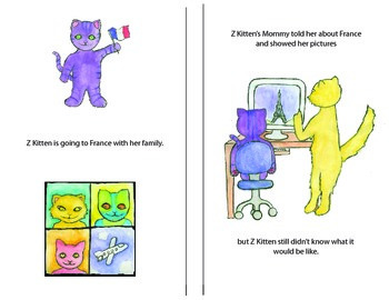 Kitten Flies to France: Story Comprehension/Social Narrative- Airplane,Travel