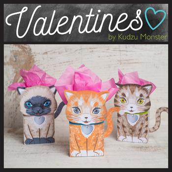 Kitten Foldable Valentine Goodie Bag