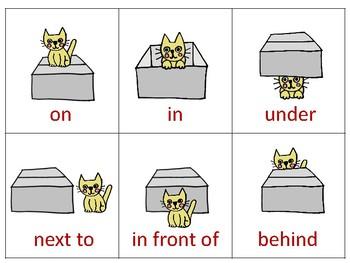 Kitten in a Box PREPOSITIONS **Freebie**