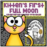 Distance Learning Kitten's First Full Moon Kindergarten NO PREP Printables