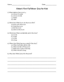 Kitten's First Full Moon Quiz for Kids