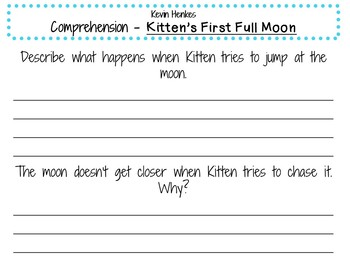 Kitten's First Full Moon by Kevin Henkes:  A Complete Literature Study!
