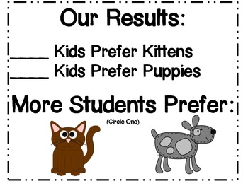 Kittens and Puppies: Math, Literacy, and Craftivities!