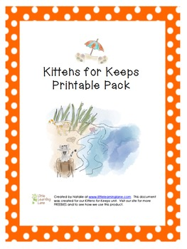 Kittens for Keeps (Jenny's Surprise Summer) Printable Pack
