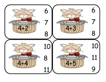 Kitty Cat  Addition Clip Card Math Center