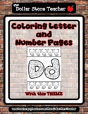 Kitty Cat - Animal - Theme Coloring Letter and Number 0 -