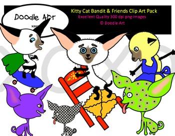 Kitty Cat Bandit & Friends Clipart Pack