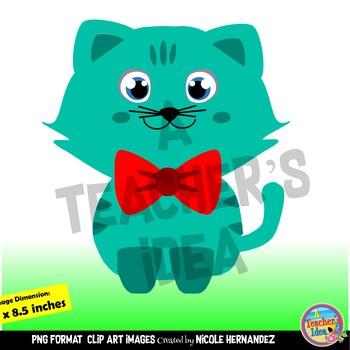Cute Kitty Cats Clip Art For Teachers