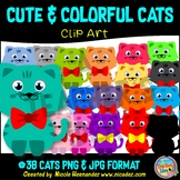 Cute Cats Clipart for Teachers, Clip Art for Commercial Use