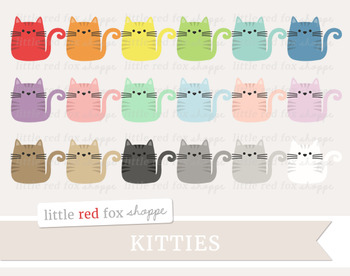 Kitty Cat Clipart; Animal, Pet